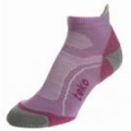 Socks - TEKO Merino Womens Low Lilac/Grey 3311 - lilac and grey