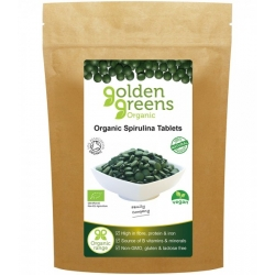 Golden Greens Organic: Spirulina Tablets