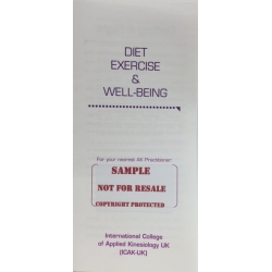 Diet, Exercise and Well-Being (Free Sample)
