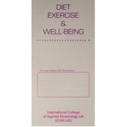 Diet, Exercise and Well-Being (50 leaflets)